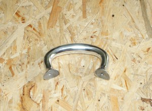 Handle grip, for our fenders, prewar models S350 no. 28 no. 31 no.38 ls200 alu polished