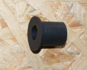 Rubber, front cone mount, 14 x 25 x 30 mm, S 350