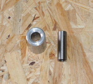 Alu bearing, spacer/bushing for U-profile, 8 x 22 x 30 mm
