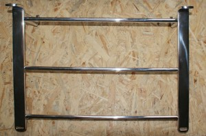Luggage bar, S 500, complete with fastening, polished aluminium