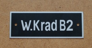 Identification plate for