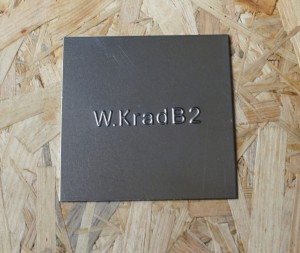 Identification plate for W-krad B2