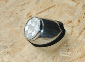 reflex reflector  white with polished alu housing